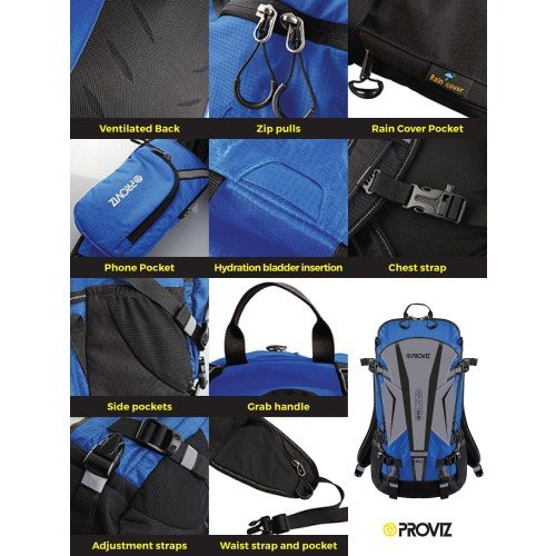 NEW: REFLECT360 Touring Backpack - Blue/Reflective - 20 Litres