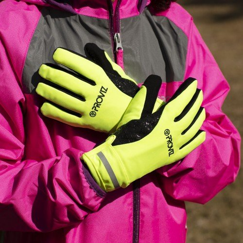 Classic Waterproof Children's Cycling Gloves - Yellow