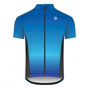 Classic Men's Alpine Short Sleeve Cycling Jersey - Blue