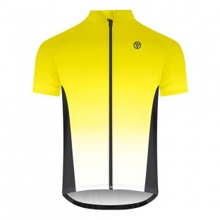 Classic Men's Alpine Short Sleeve Cycling Jersey - Yellow