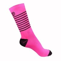 NEW: Classic Stripe Cycling Socks - Mid Length - Pink