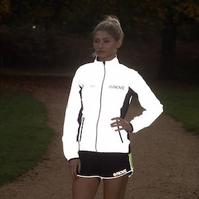 Reflect360 Women's Running Jacket after dark