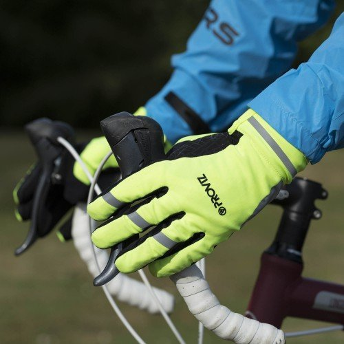Classic Waterproof Cycling Gloves - Yellow