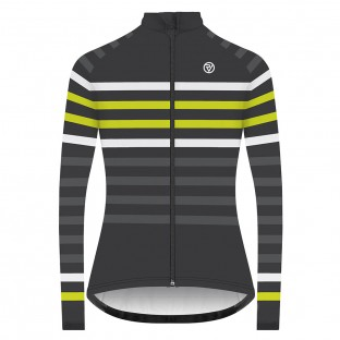 Classic Women's Podium Long Sleeve Jersey - Yellow Stripe