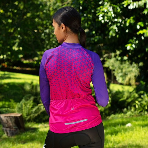 NEW: Classic Women's Long Sleeve Slipstream Cycling Jersey - Purple