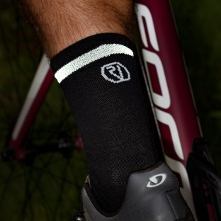 NEW: Classic Merino Cycling Socks - Mid Length - Black