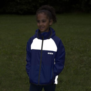 NEW: Nightrider Kids' Fleece-Lined Waterproof School Coat - Navy Blue