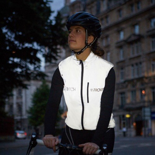 NEW: Switch Women's Cycling Gilet - Light Blue / Reflective