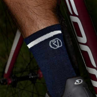 NEW: Classic Merino Cycling Socks - Mid Length - Blue
