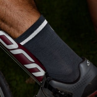 NEW: Classic Merino Cycling Socks - Mid Length - Grey
