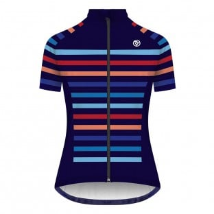 Classic Women's Podium Short Sleeve Jersey - Multi Stripe