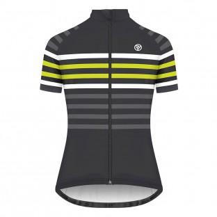 Classic Women's Podium Short Sleeve Jersey - Yellow Stripe