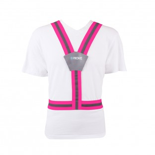 Classic Flexi-Viz Cycling/Running Belt - Pink