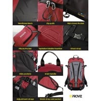 NEW: REFLECT360 Touring Backpack - Red/Reflective - 20 Litres