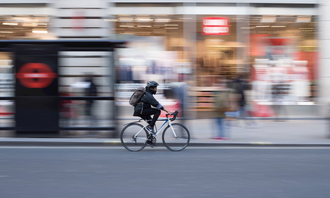Cyclist in London