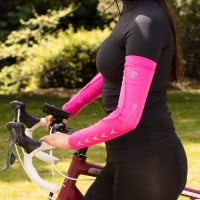 NEW: REFLECT360 Elite Arm Warmers - Pink