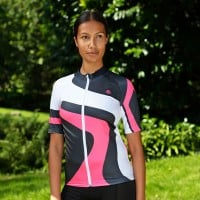 NEW: Classic Women's Short Sleeve Tour Cycling Jersey - White/Pink