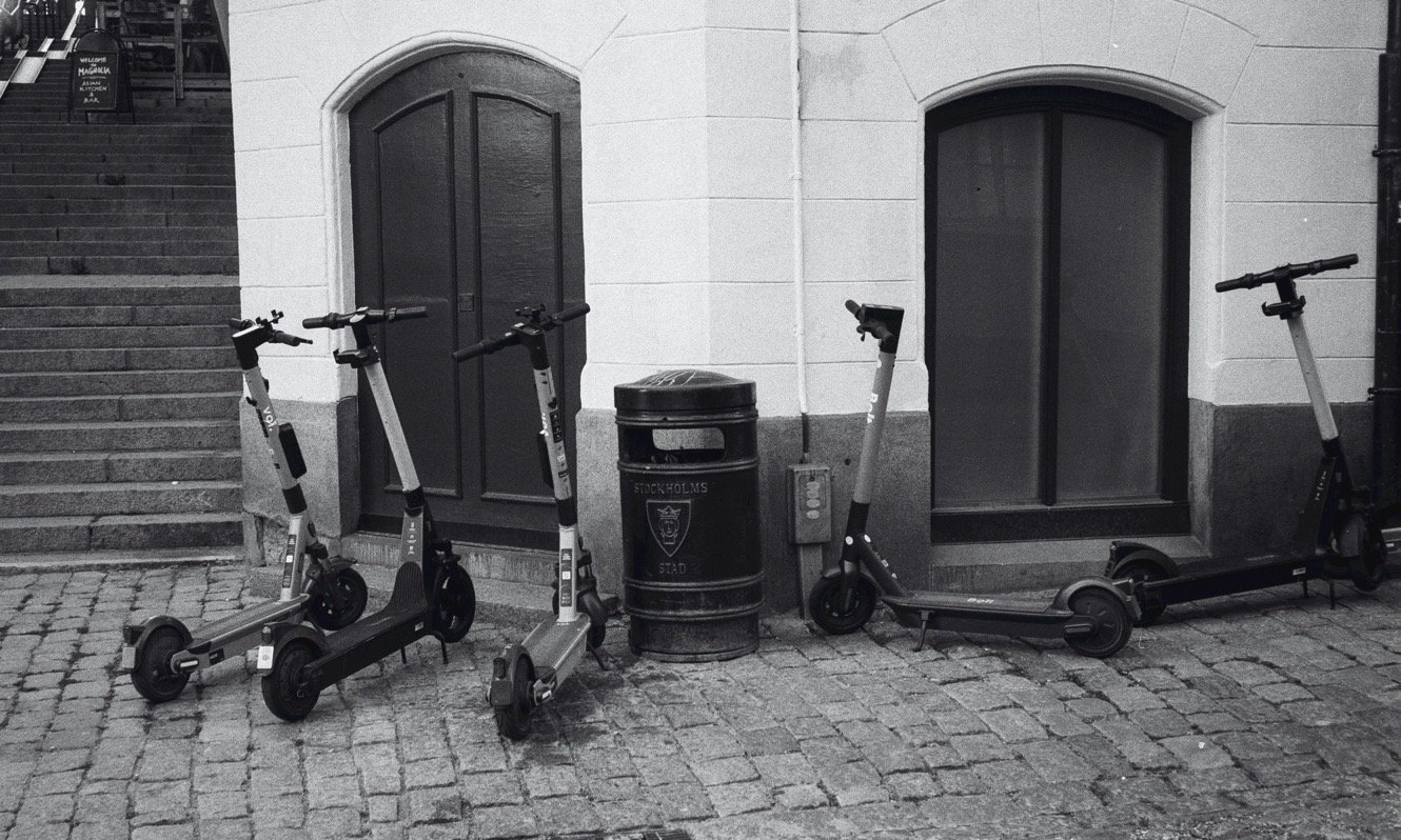 E-Scooters in Stockholm, Sweden