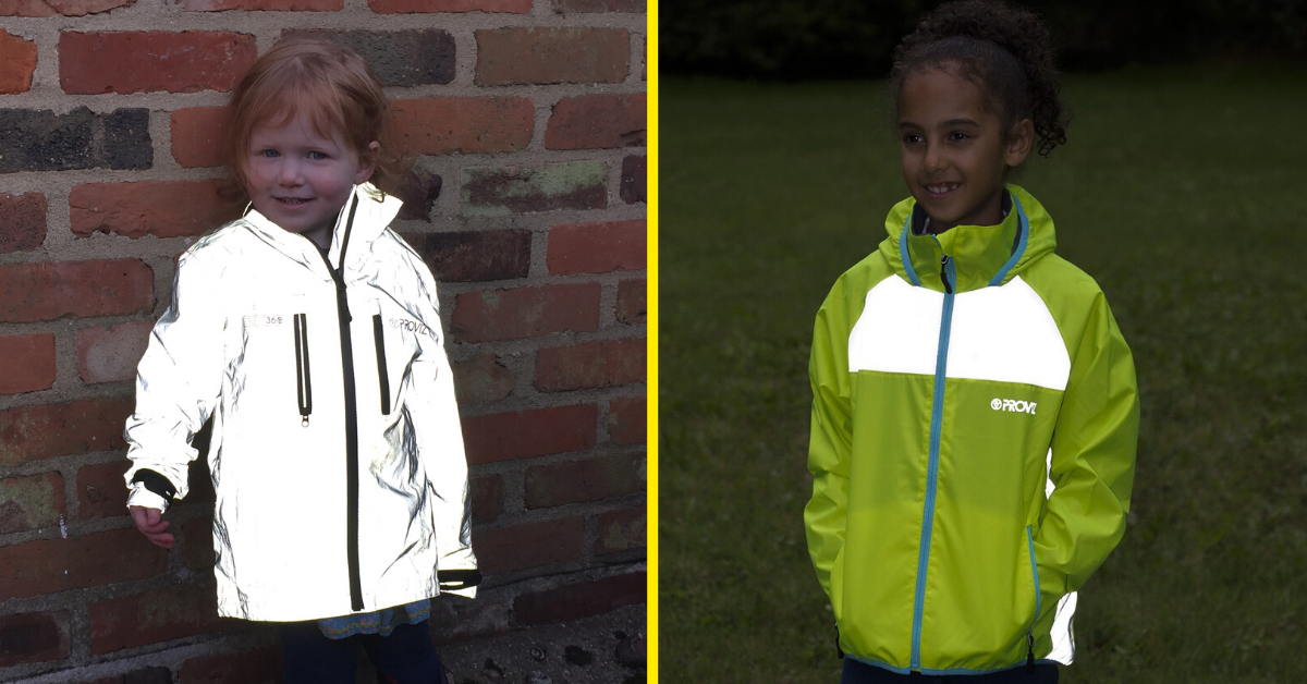 Children wearing Proviz jackets