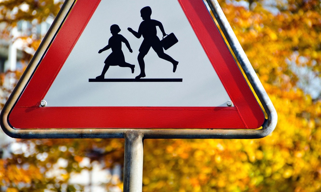 Children Crossing Warning Sign