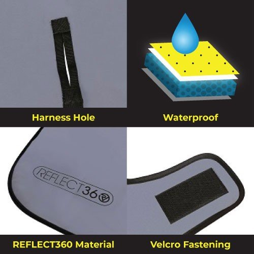 NEW: REFLECT360 Waterproof Fleece-Lined Dog Coat