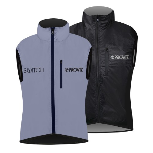 Switch Women's Cycling Vest - Black / Reflective
