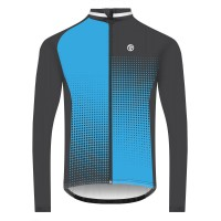 NEW: Classic Men's Long Sleeve Peloton Cycling Jersey - Black/Blue