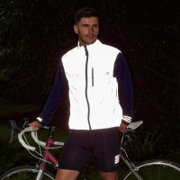 NEW: Switch Men's Cycling Vest - Red / Reflective