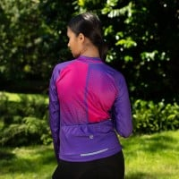NEW: Classic Women's Long Sleeve Slipstream Cycling Jersey - Purple Polka