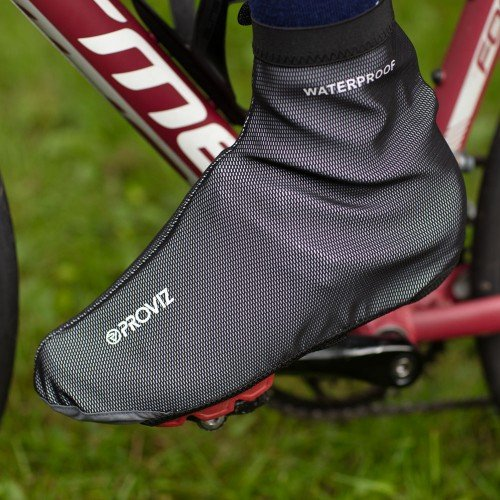 NEW: REFLECT360 Waterproof Overshoes - Black/Reflective