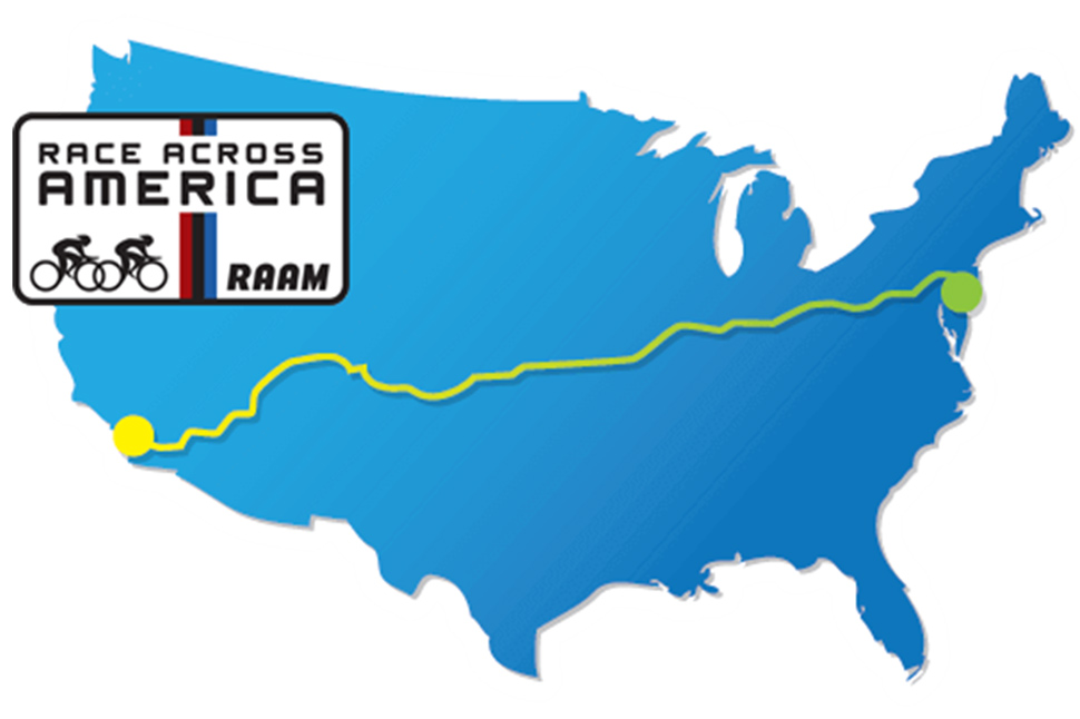 Race Across America 3000 mile route map