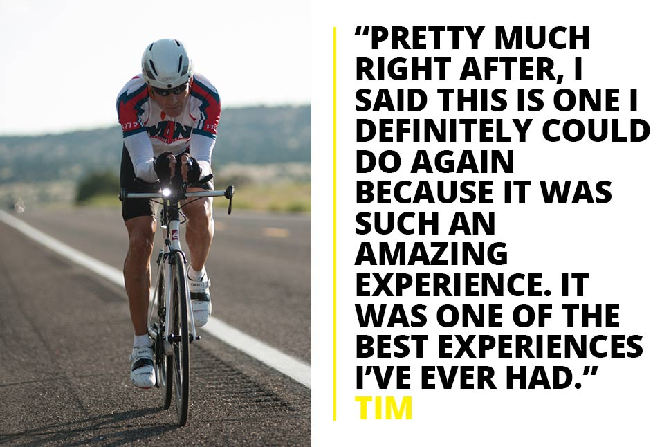 "Tim Robert: ""The Race Across America was one of the best experiences I've ever had"""
