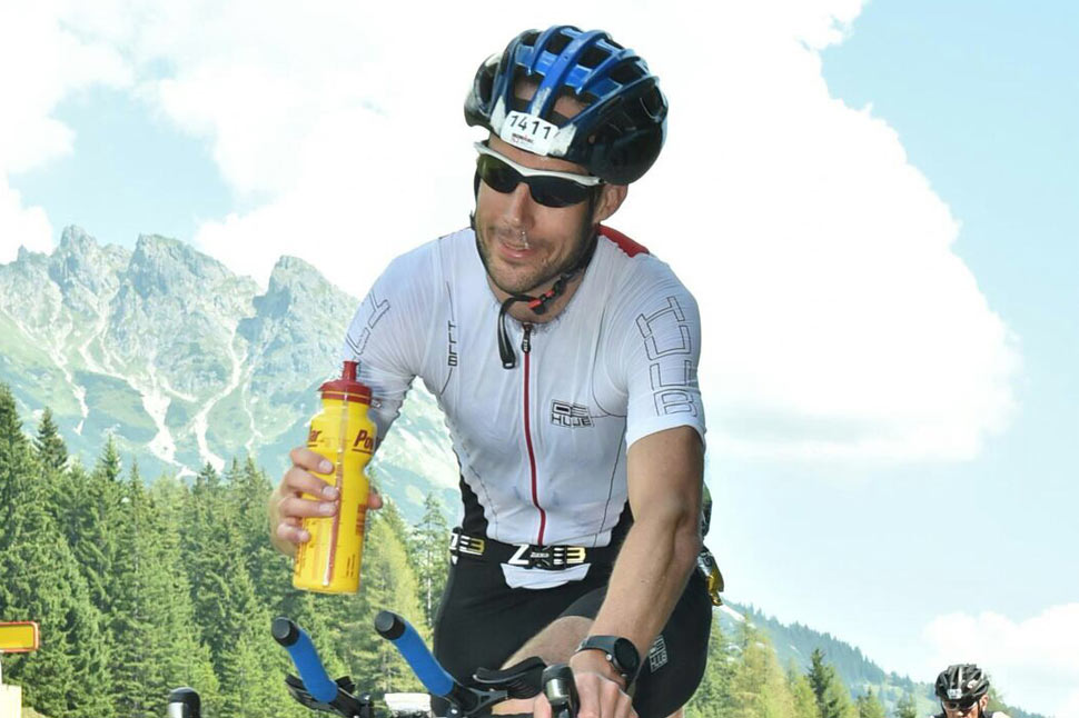 Matt cycling through Austrian Alps