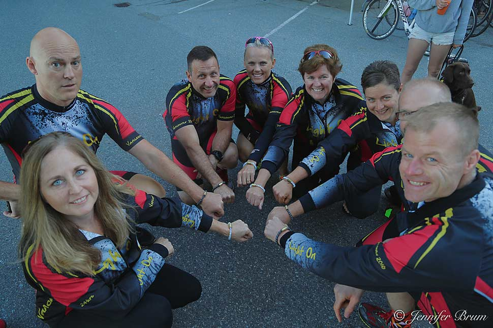 Team photo before the Light on PTSD cycle