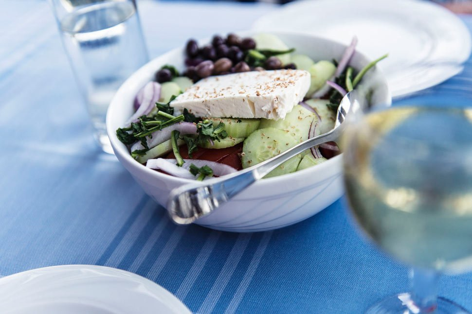 Greek Salad is an obligatory dish if you're trying to be healthy while still enjoying delicious food.