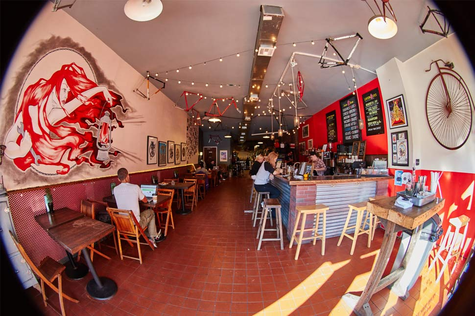 Red Lantern Bikes Cafe in NEw York