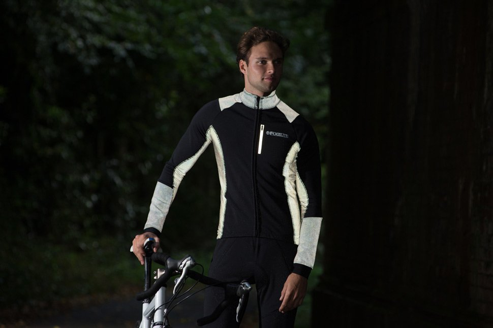 Mens pixelite performance men's cycling long sleeved jacket