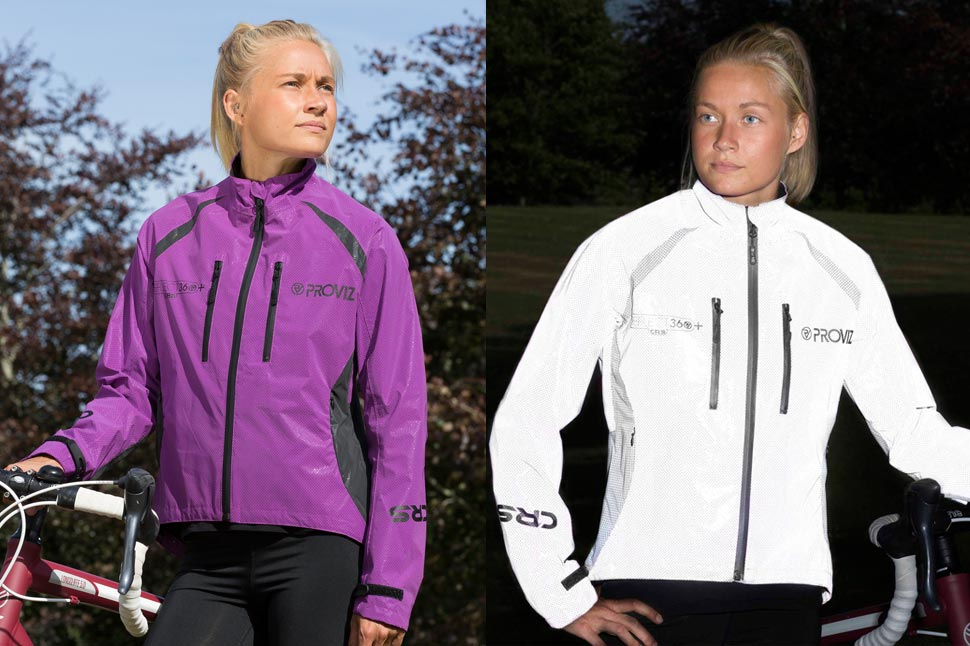 The REFLECT360 CRS Plus Jacket comes in blue, purple and red