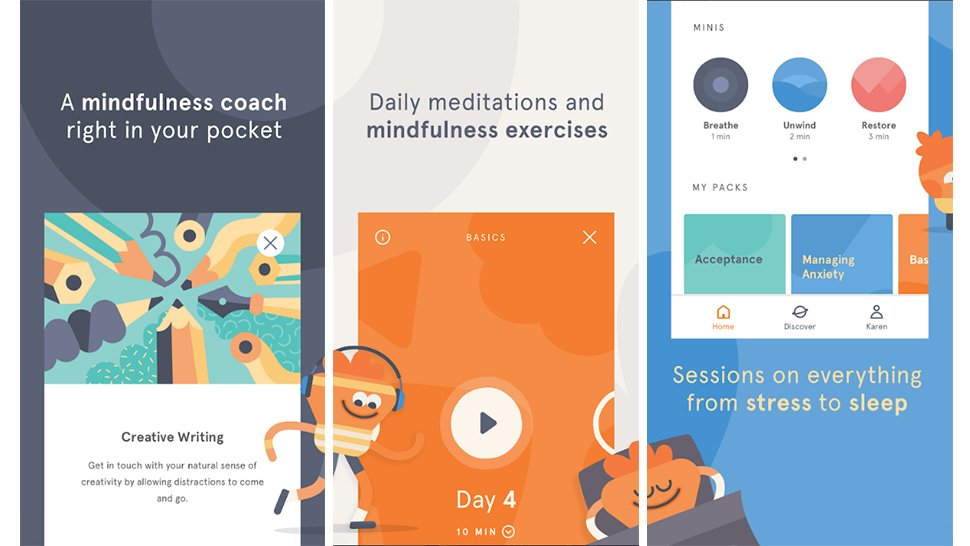 Headspace is a meditation app will help you calm an overworked mind, which in itself can lead to a better night's sleep.