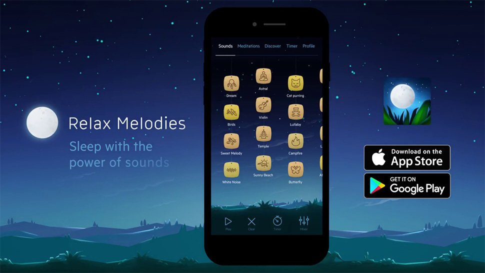 Relax Melodies app helps you sleep