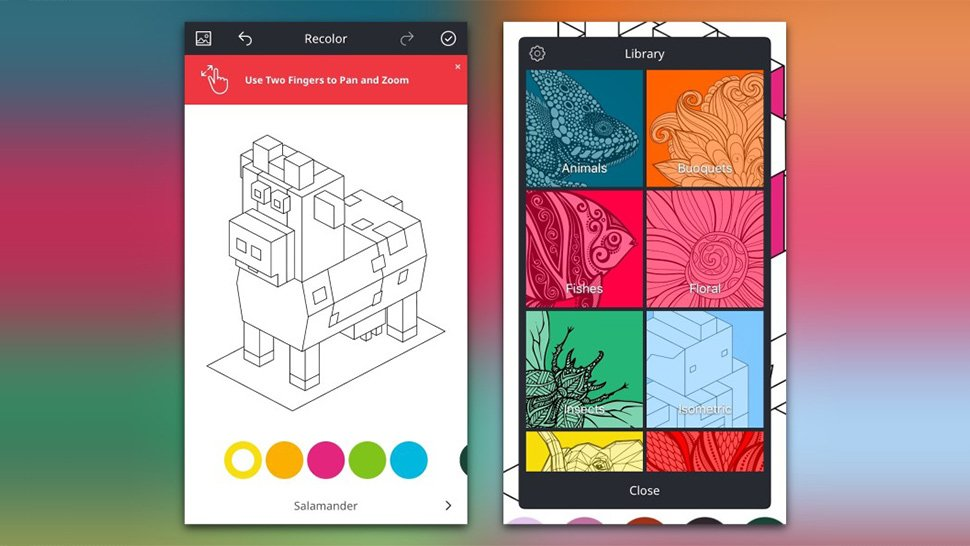 Recolor app is free with in app purchases on iPhone and Android and there are many free pictures to choose from