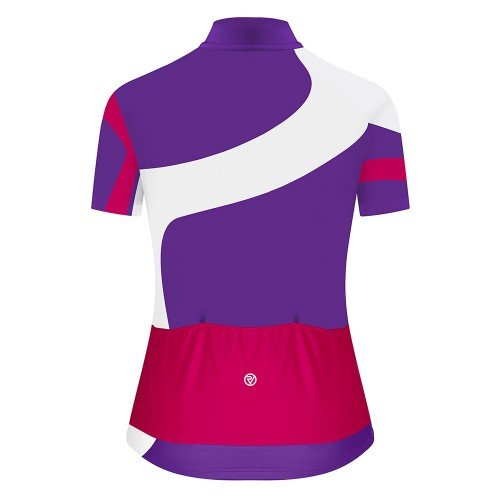 NEW: Classic Women's Short Sleeve Tour Cycling Jersey - White/Purple