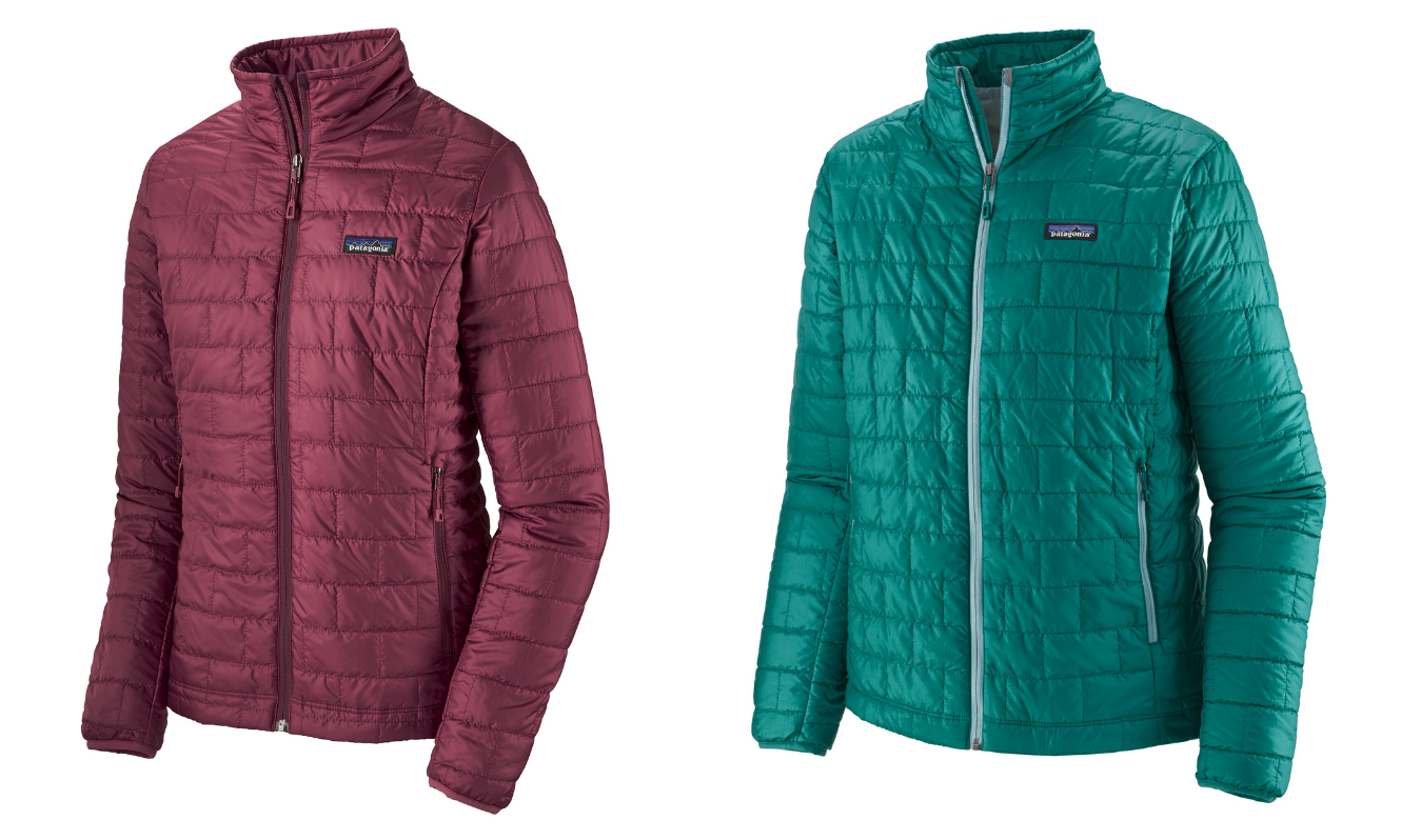 Product images of the Patagonia Nano Puff jacket