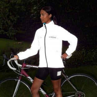 NEW: Switch Women's Cycling Jacket - Light Blue / Reflective
