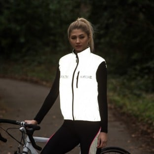 Switch Women's Cycling Gilet - Black / Reflective