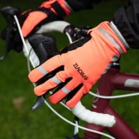 NEW: Classic Waterproof Cycling Gloves - Orange