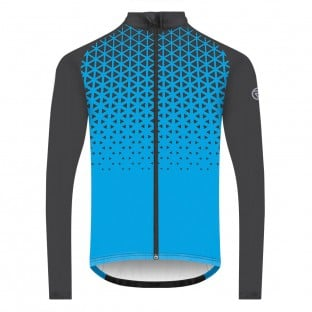 NEW: Classic Men's Long Sleeve Peloton Cycling Jersey - Blue