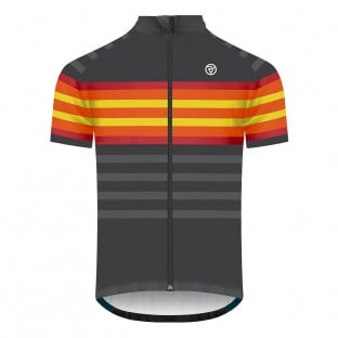 Classic Men's Podium Short Sleeve Cycling Jersey - Graphite/Red