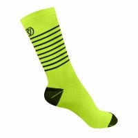 NEW: Classic Stripe Cycling Socks - Mid Length - Yellow
